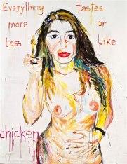 A austríaca Elke Krystufek é uma das artistas favoritas de Injah