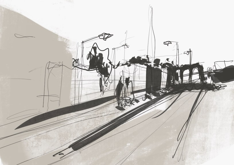 drawing of Vila do Conde metro station