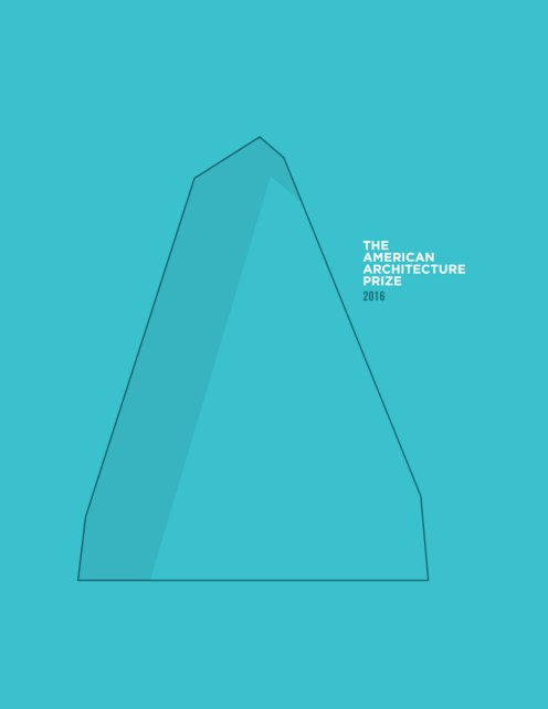 The American Architecture Prize 2016 Book, Capa