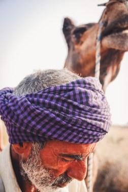 camelman at thar desert