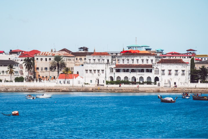 arriving in Stone Town on a boat