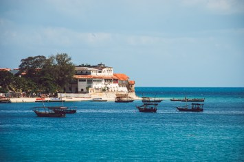 stone town view from the sea