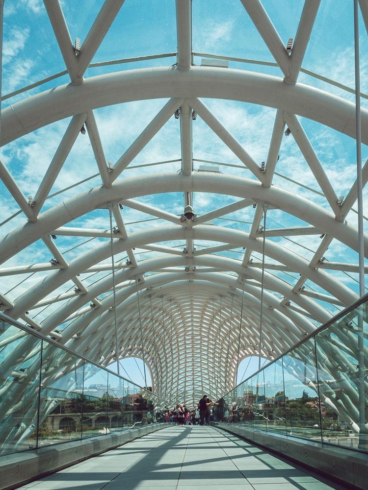 Il Peace Bridge, ideato dall'Italiano Michele De Lucchi