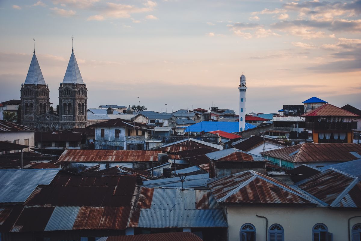 panoramic view of stone town