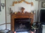 image of full view of mantle decor of thanksgiving
