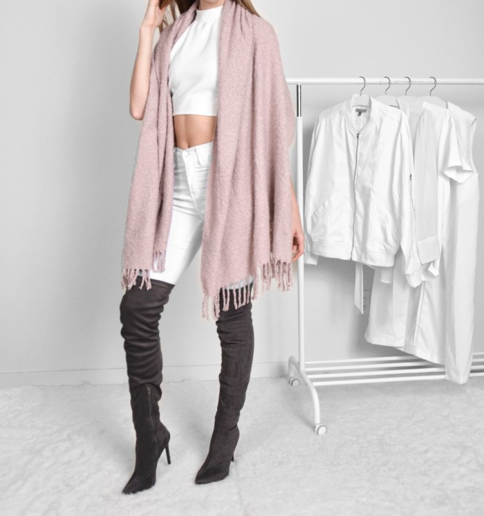 Blush pink wrap outfit