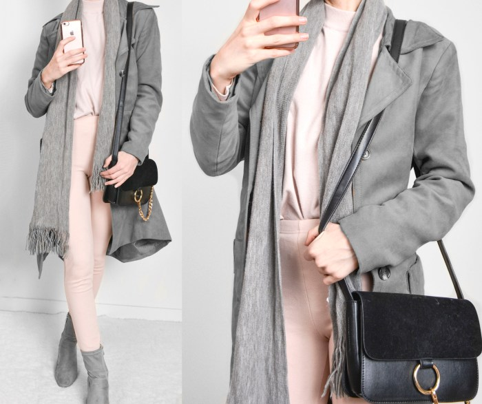 Blush winter outfit
