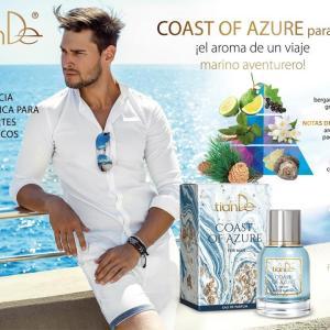 70148 Eau de parfum para hombre Coast of Azure, tianDe, Una refrescante brisa de libertad