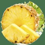 piña, ingrediente básico de la pasta de dientes