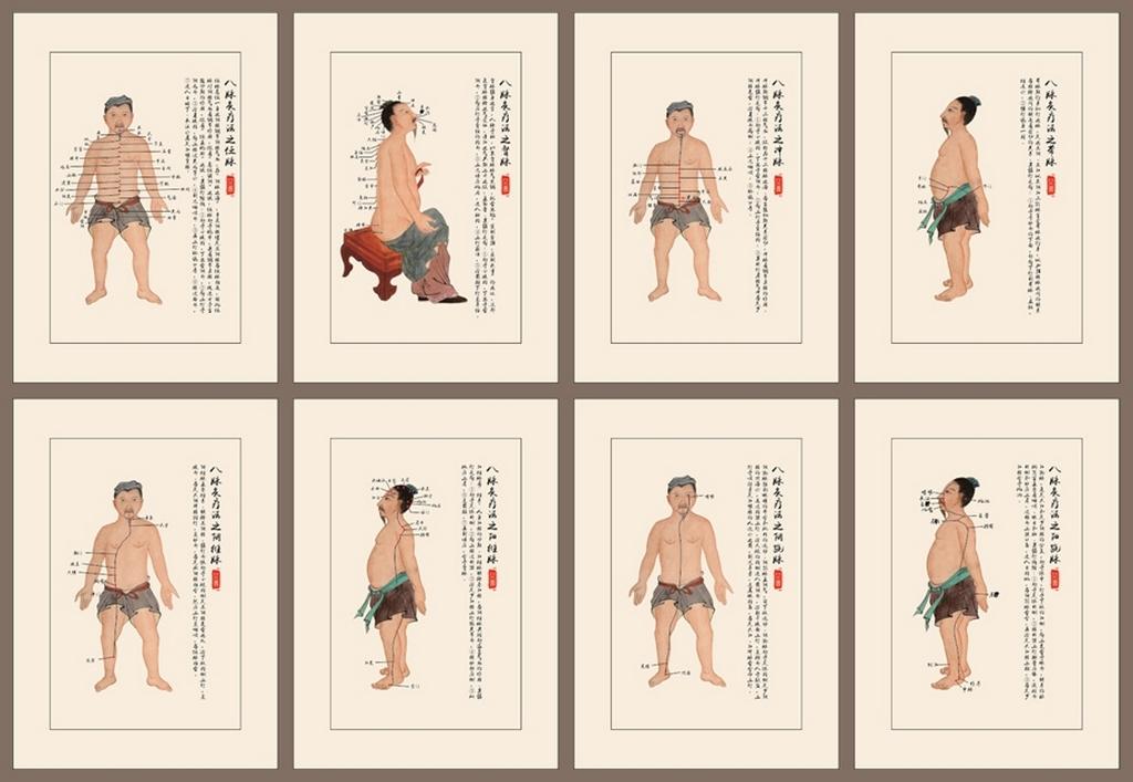 Illustration des huit merveilleux vaisseaux, 奇經八脈 qí jīng bā mài