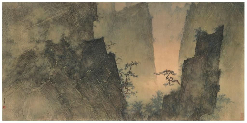 Printemps tardif, 2014, encre et couleur sur papier de Li Huayi