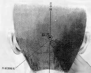 Porte du cerveau, 腦戶 nǎohù, est le dix septième point du vaisseau gouverneur