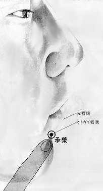 Salivation, 承浆 chéngjiāng, est le vingt quatrième point du vaisseau conception.