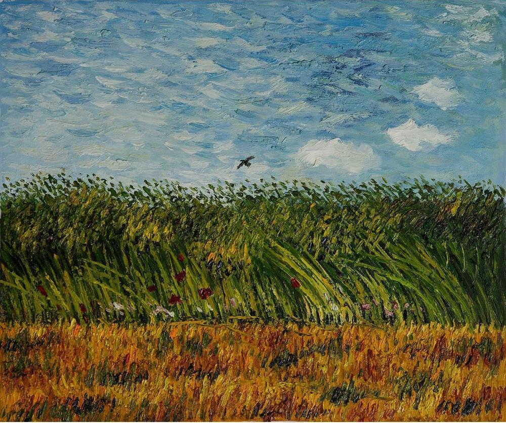 Champ de blé avec une alouette, 1887, huile sur toile de Vincent van Gogh