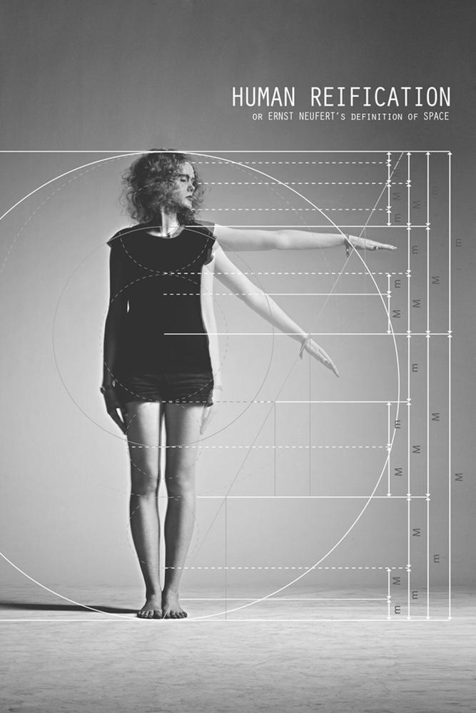 La réification des corps dans l'ergonomie de Neufert mise en photographie,