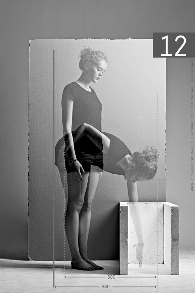 La réification des corps dans l'ergonomie de Neufert mise en photographie par Paul Gisbrecht