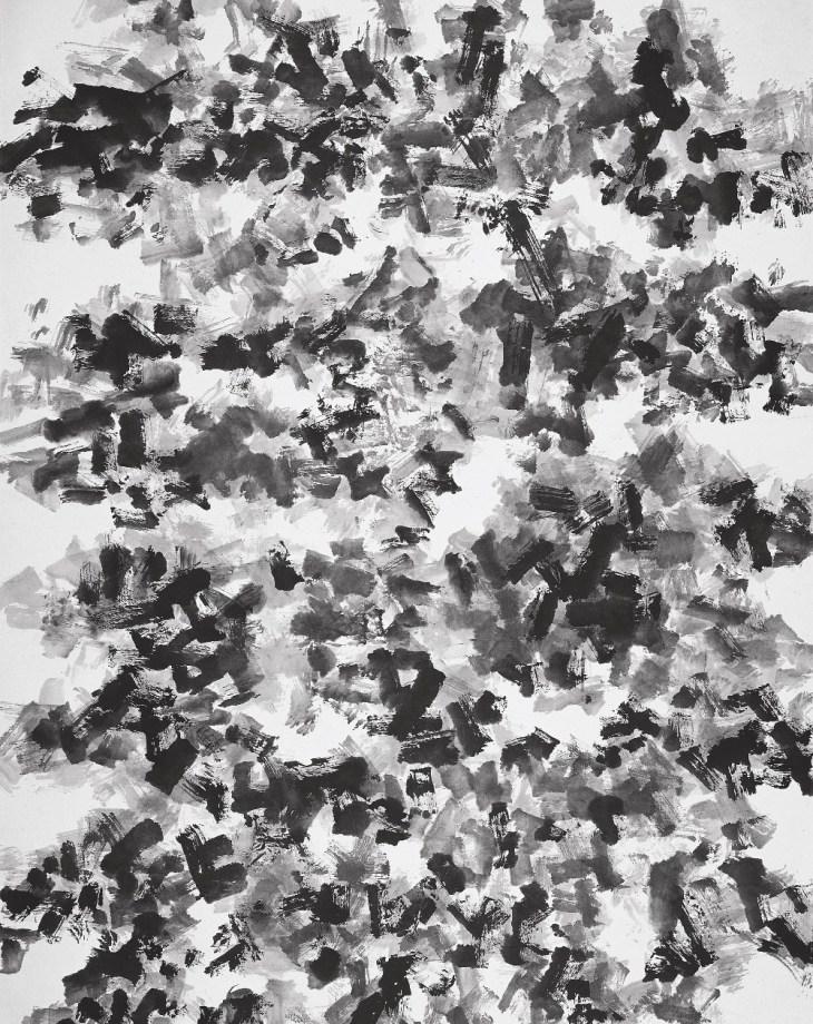 Dans le jardin, n ° 28, 2006, encre sur papier de Deng Guoyuan