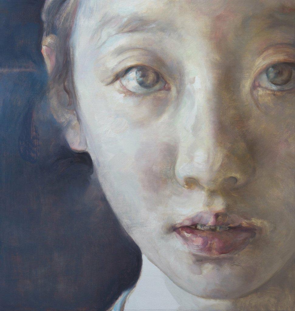 Dans ton monde, 2017, huile sur toile de Kailin Zhao