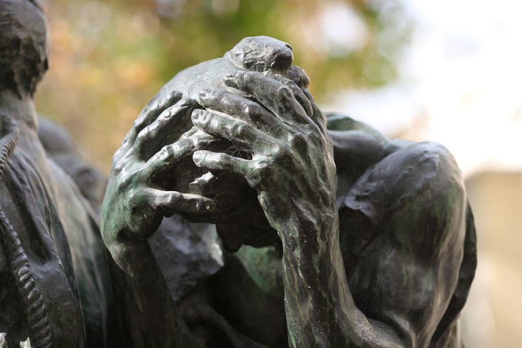 Les Bourgeois de Calais, sculpture d'Auguste Rodin, detail