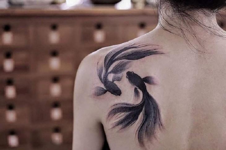 Poissons, tatouage de Chen Jie