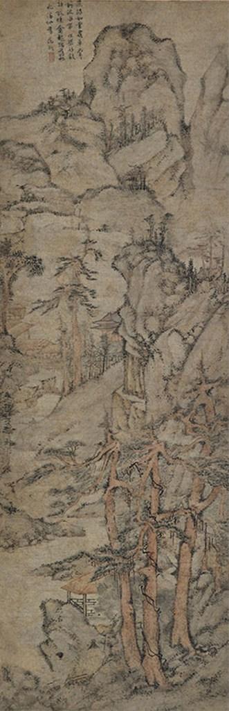 Rassemblement dans les montagnes profondes. Rouleau suspendu, encre et couleur sur papier, Wen Zhengming (1470-1559).