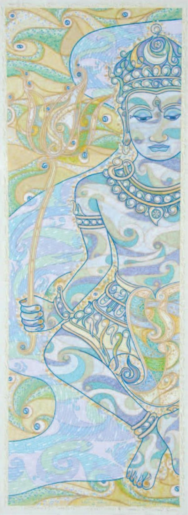 Sûtra du Lotus I, 2011-2013, huile sur toile