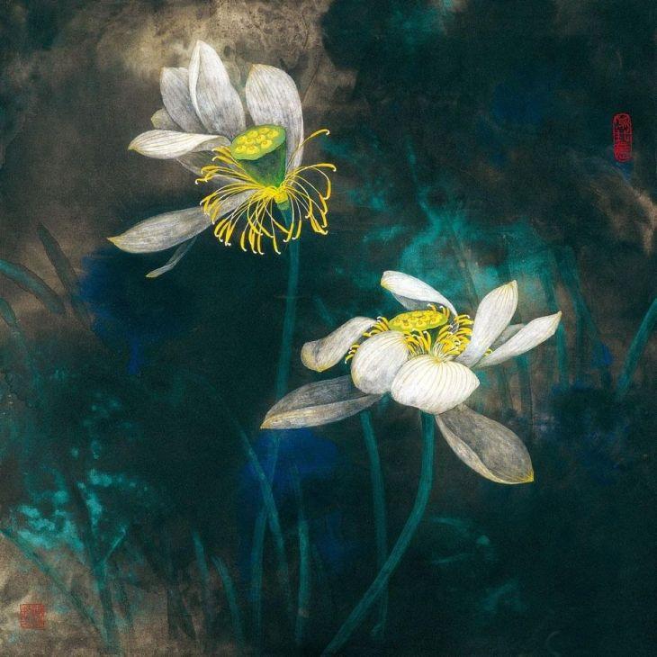 Peinture de fleurs, Chen Huimin