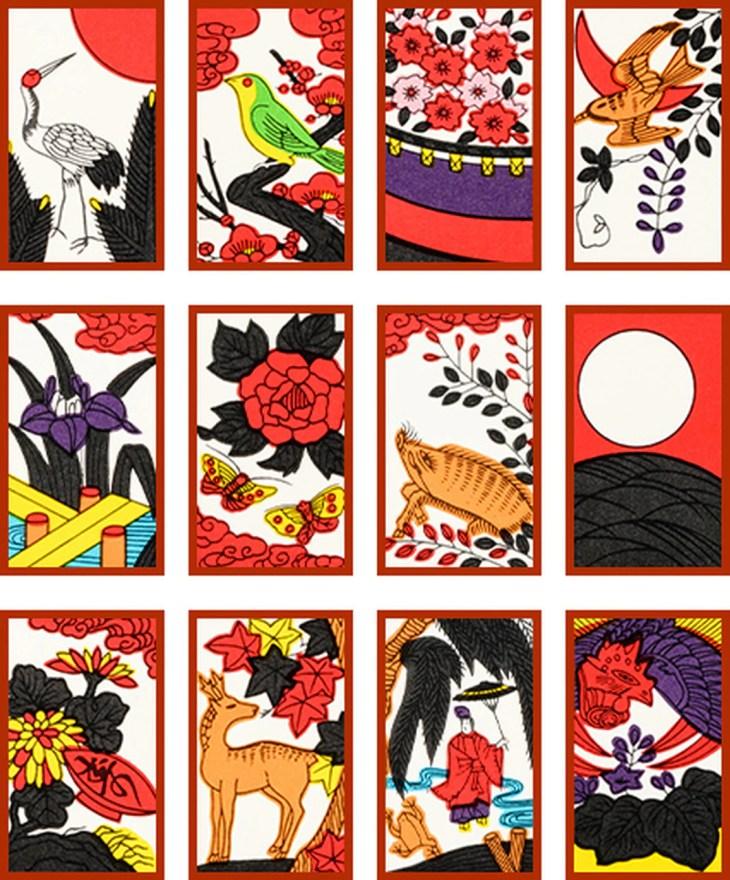 Hanafuda Fleur de la ville , rouge, Nintendo