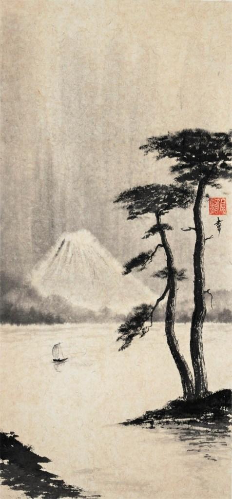 Mont Fuji et deux pinS, Jean-Marc Moschetti