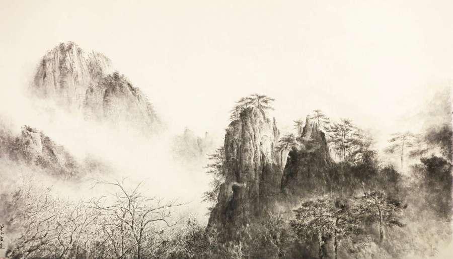 Montagne jaune 1, 2014, Zeng Xiaojun