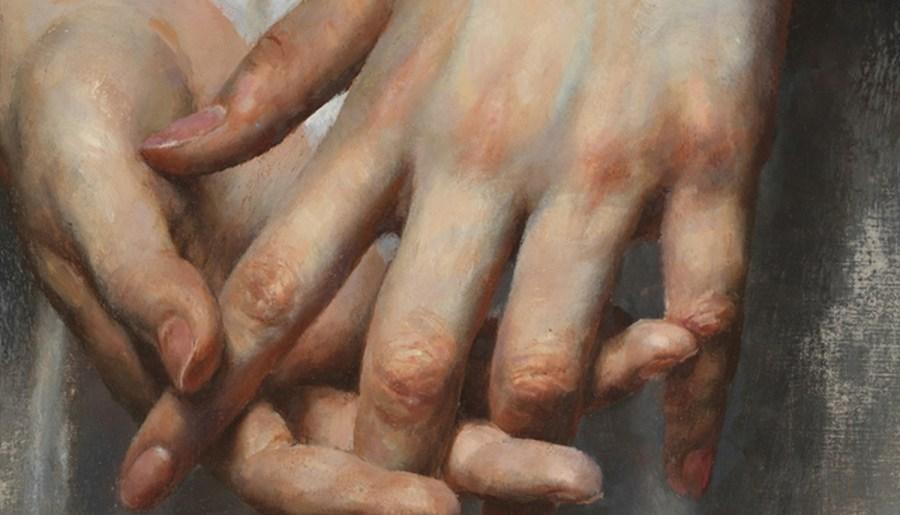 Mains, huile sur toile de lin, Ho Lihuai