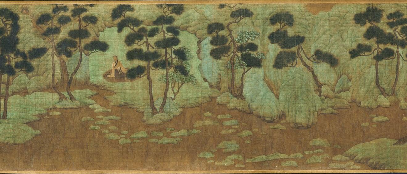 Paysage d'esprit de Xie Youyu, encre et couleur sur soie, Zhao Mengfu, 1254-1322