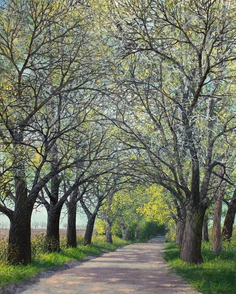 Route à Olic, 2016, huile sur toile, Olga Kvasha