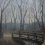 Triste marche, huile sur toile, Marina Kareva