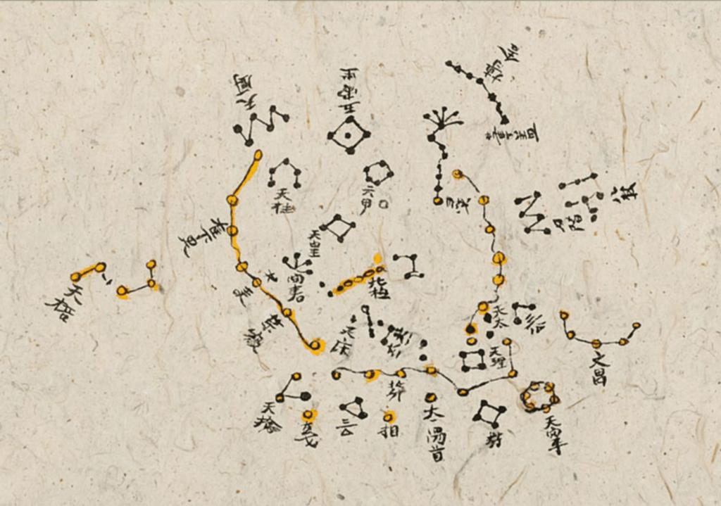 Détail carte de Dunhuang