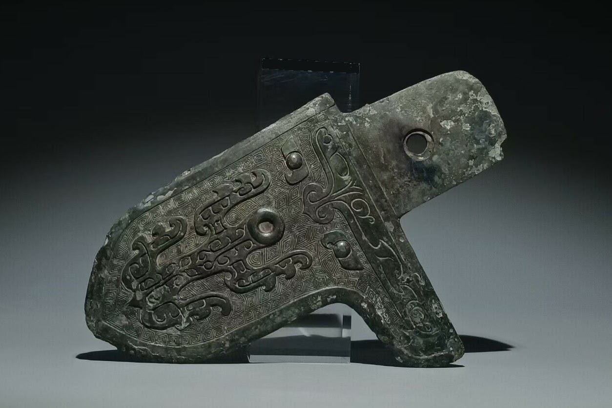 Dague hache d'arme en bronze à longue portée, période des Royaumes combattants