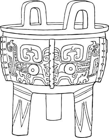 Ding, dynastie Shang, période Yinxu