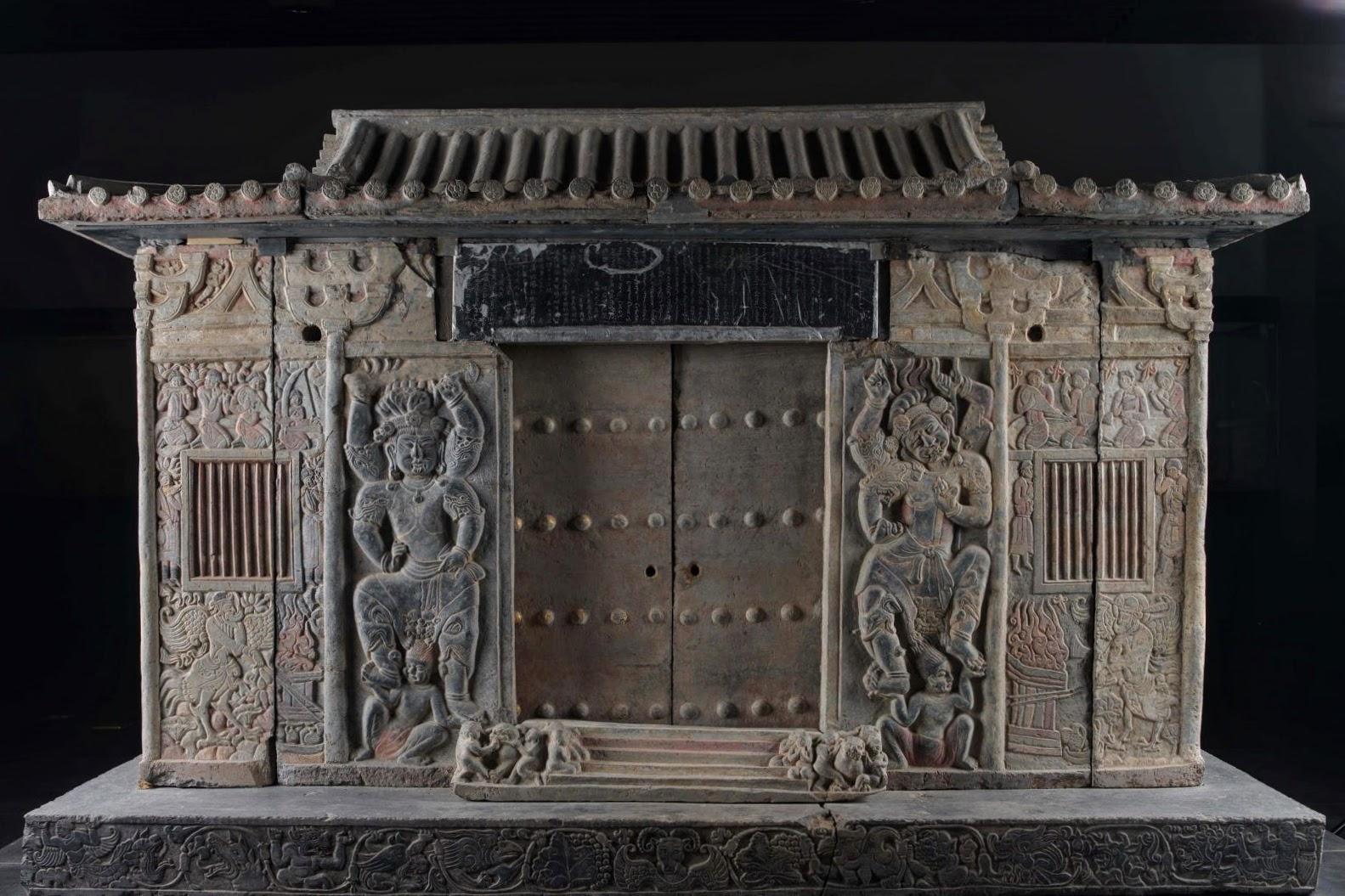 Façade du sarcophage de Shi Jun et Wiyusi