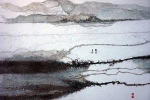 Travaux de printemps, encre sur papier, 2014, S. C. Chan