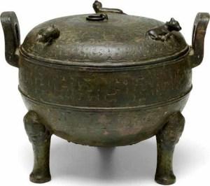 Trépied rituel en bronze, ding, période des printemps et automnes