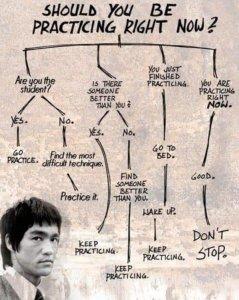 L'arbre de la pratique selon Bruce Lee