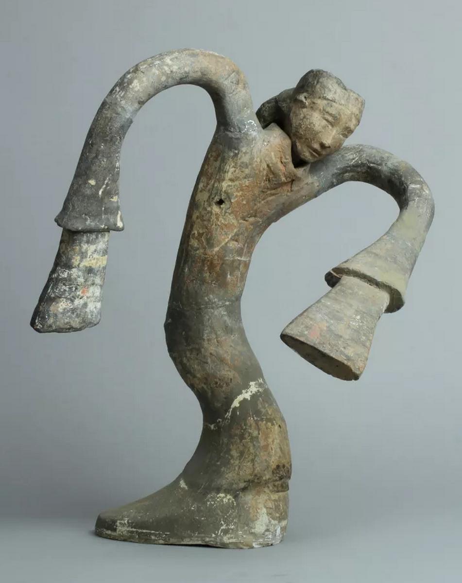 Figurine de danseuse, Han occidentaux