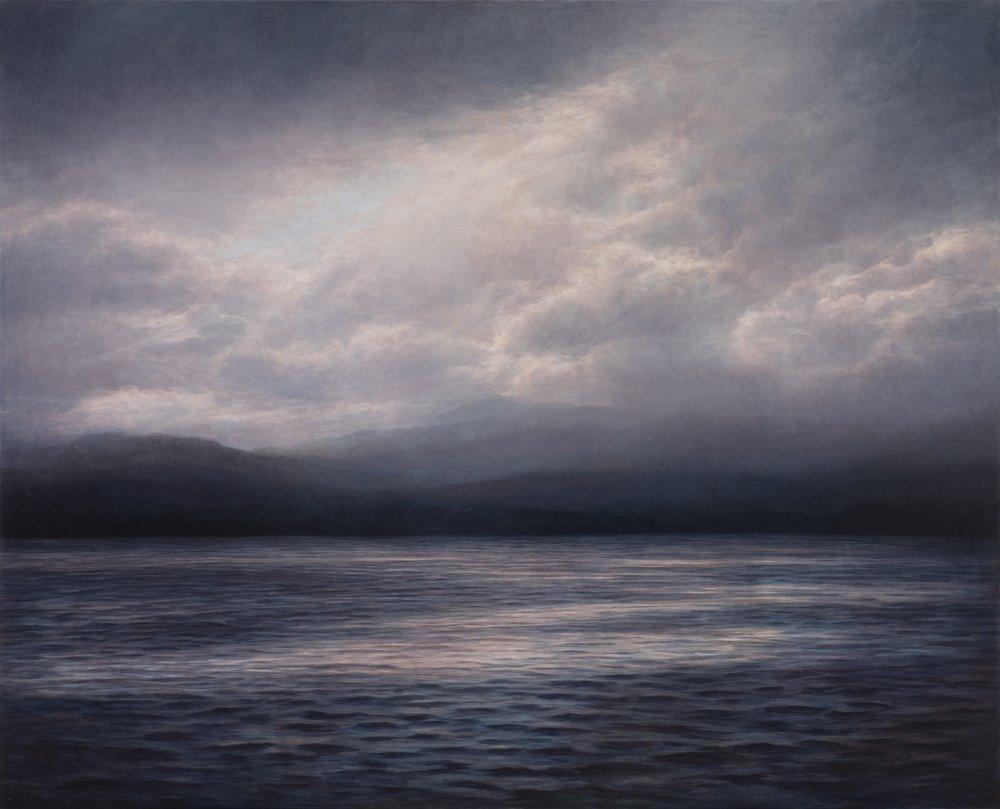 A travers le lagon, huile sur toile, Michaye Boulter