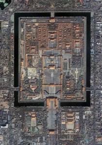 Photographie aérienne de La cité interdite de Beijing