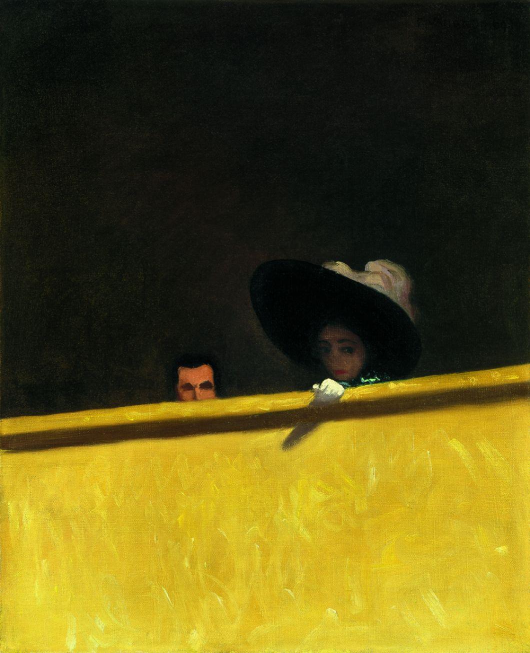 La Loge de théâtre, le monsieur et la dame», 1909, Félix Vallotton (1865–1925)