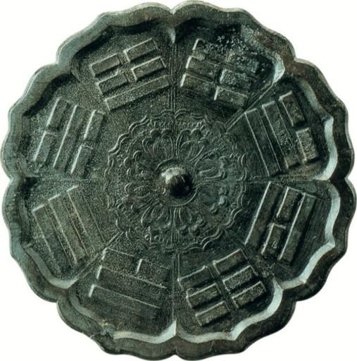 Miroir à huit diagrammes en forme de losange, dynastie Tang ou Song