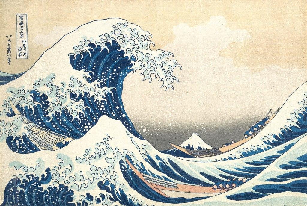 La Grande Vague de Kanagawa, 1830 ou 1831, gravure sur bois, Hokusai
