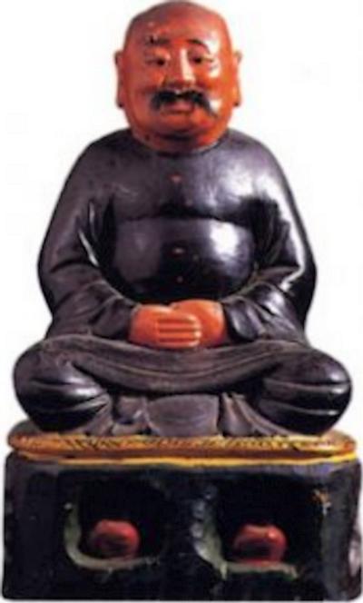 Représentation de maître Liu Peizhong utilisée pour les autels de la secte Kunlun