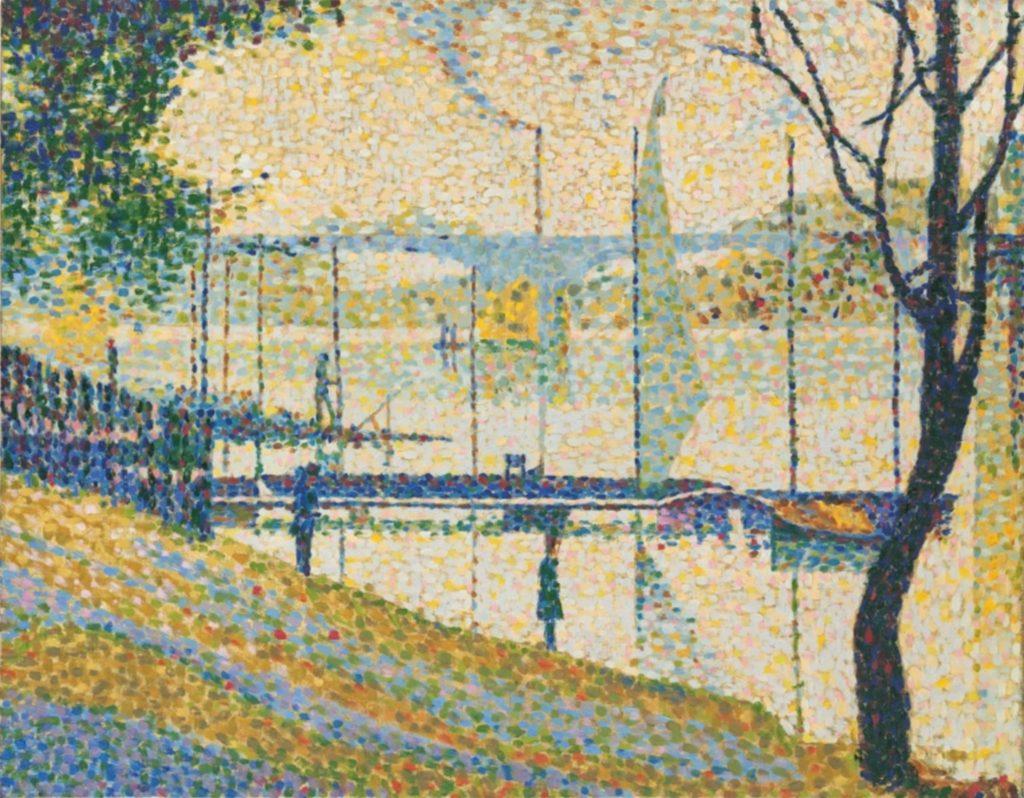 Copie d'après Le Pont de Courbevoie de Georges Seurat, 1959, Bridget Riley