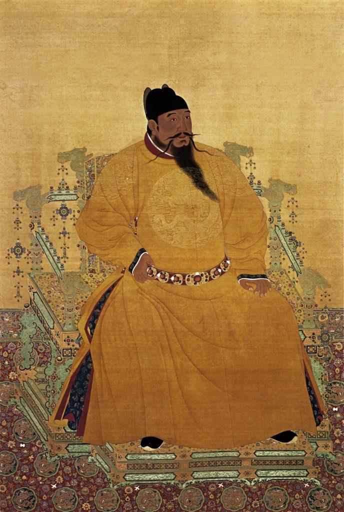 Portrait assis de l'empereur Yongle